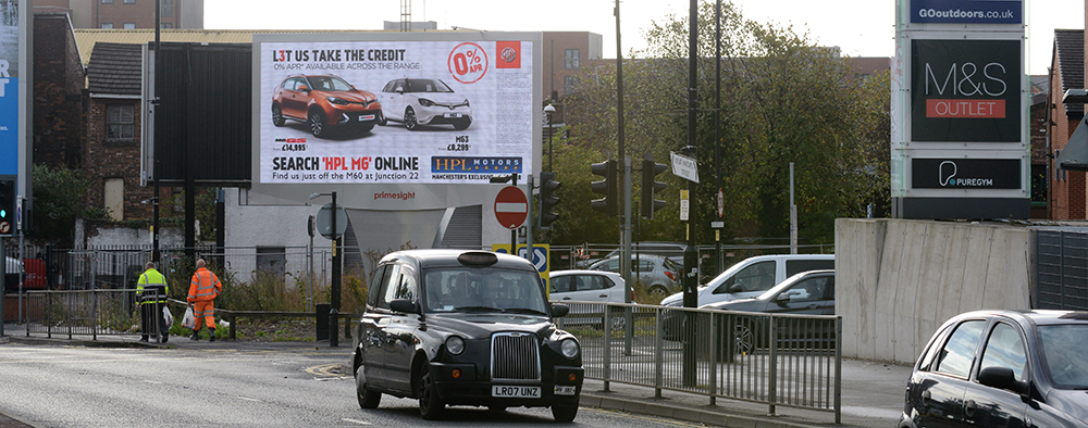 Billboard advertising in Manchester with Buy Me Media